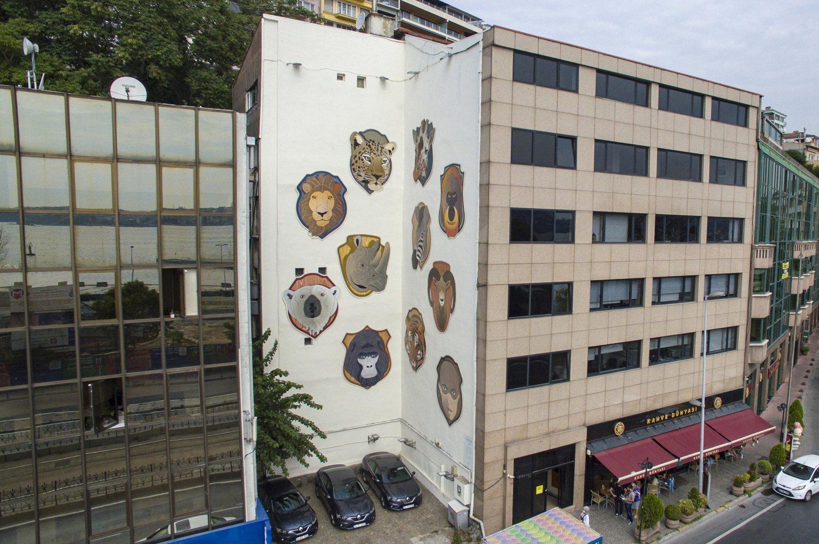 "Installation view from Ali Cabbar's ""I Shot the Last Rhino"", Kabataş, Istanbul."