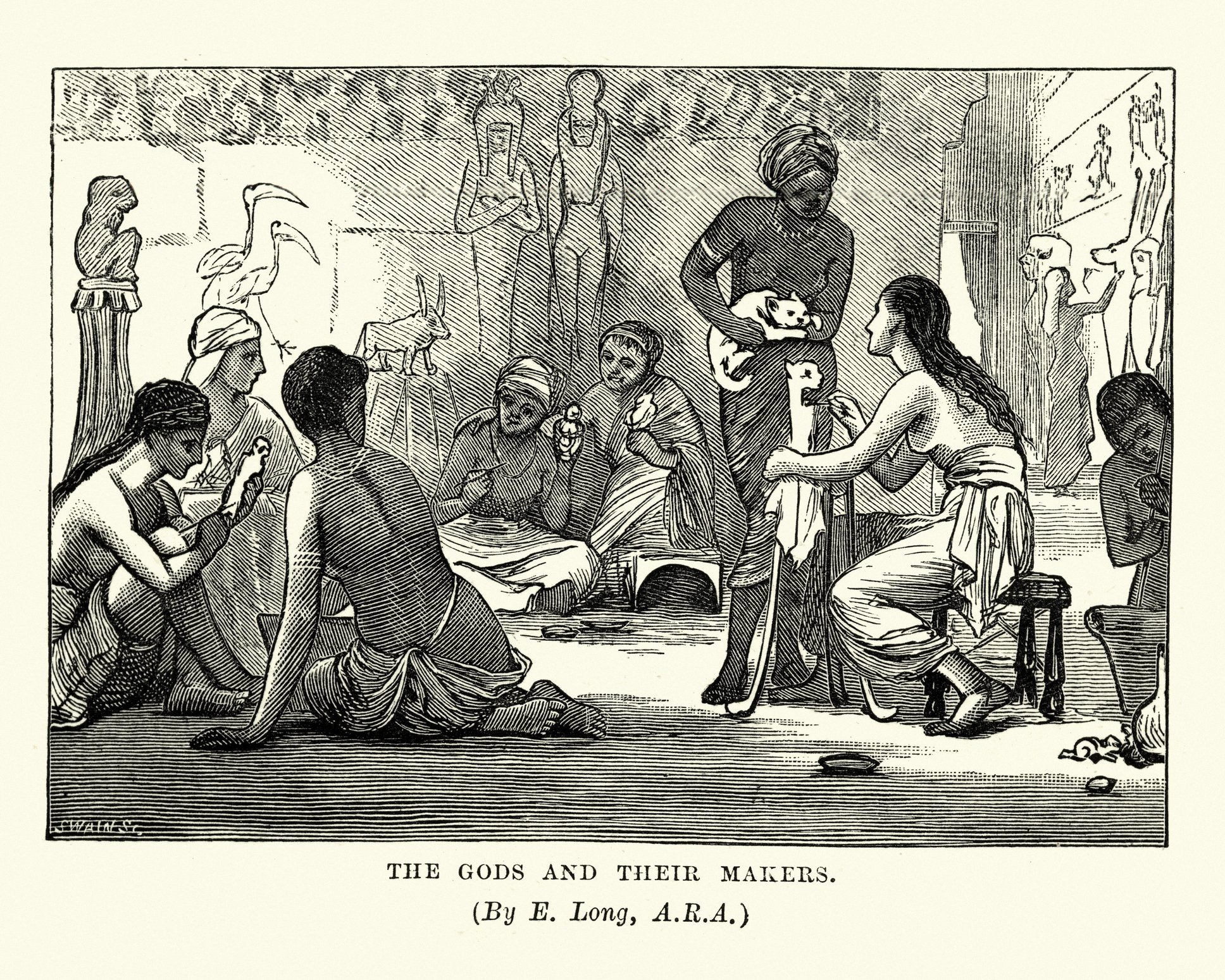 Vintage engraving of Ancient Egypt, The Gods and their Makers. (iStock Photo)