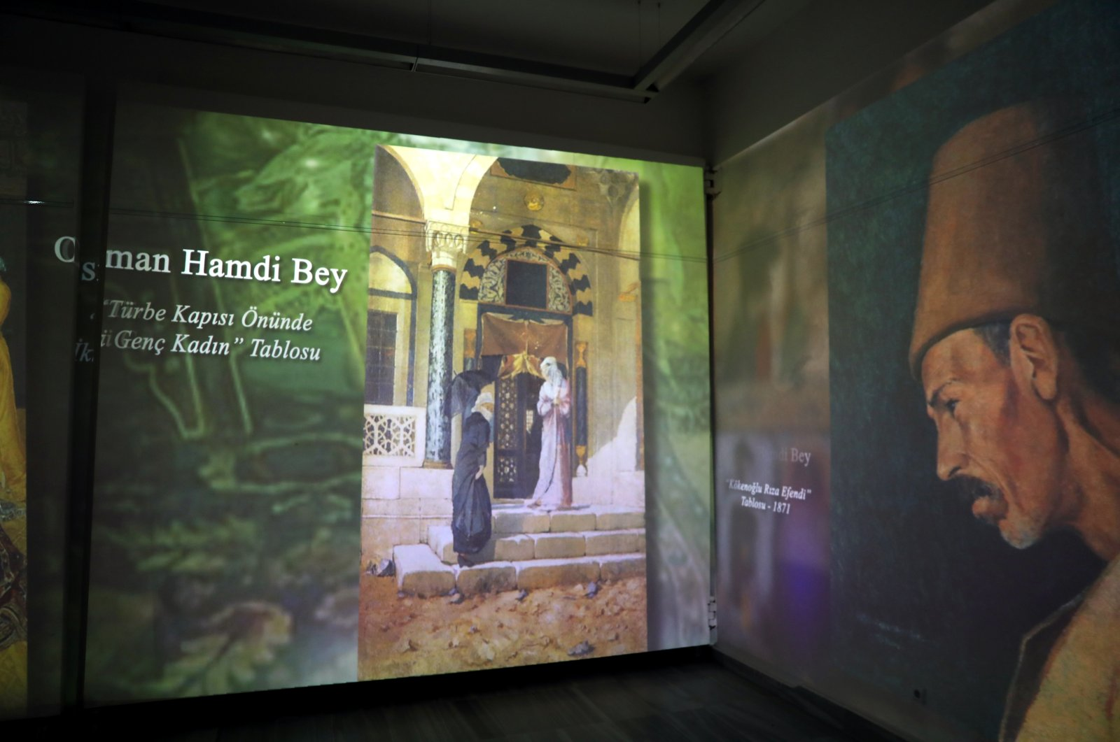 "A view from ""Osman Hamdi Bey Digital Exhibition"", Marmara University's Sultanahmet Campus, Istanbul, Oct. 26,  2020.  (AA PHOTO)"