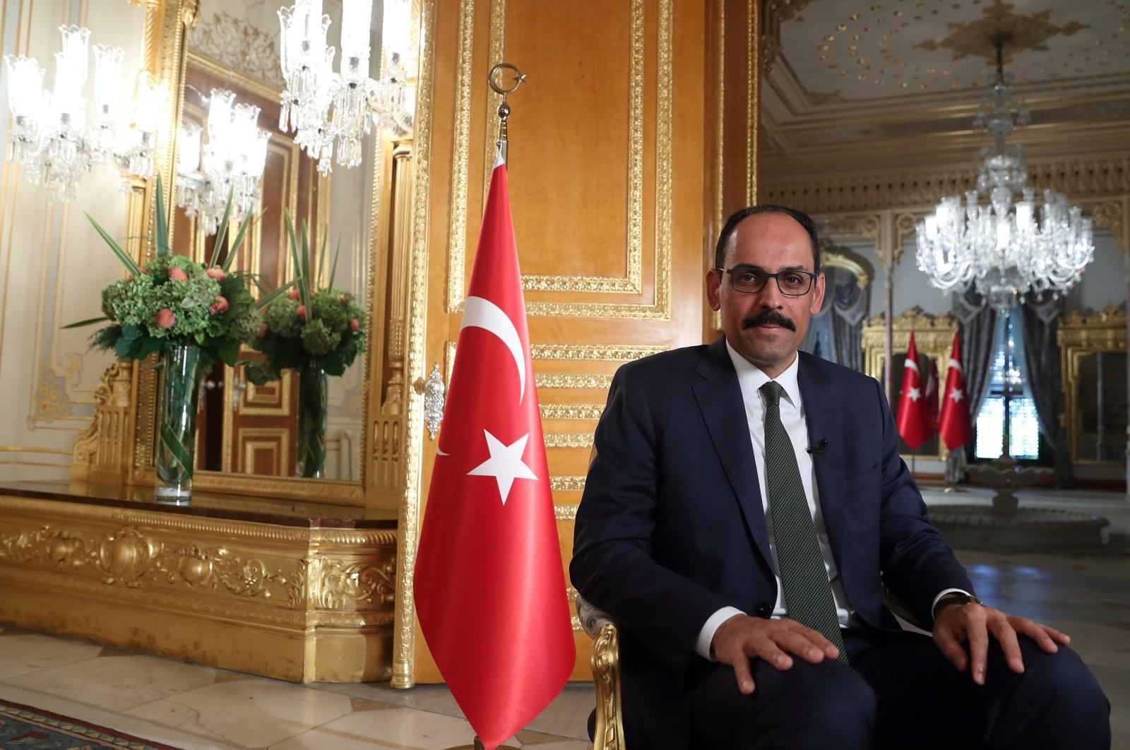 Turkey's presidential spokespersonIbrahim Kalın is pictured during an interview in Istanbul, Turkey, Sept. 27, 2020. (REUTERS Photo)