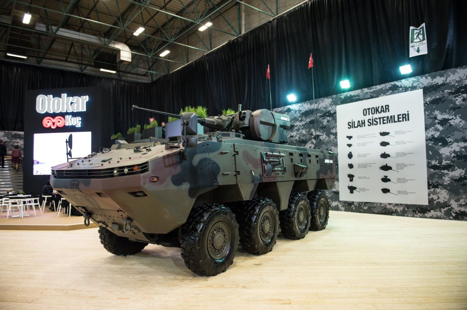 An Arma armored combatvehicle on display at the13th International Defense Industry Fair (IDEF'17) held in Istanbul between May 9-12, 2017. (Sabah File Photo)