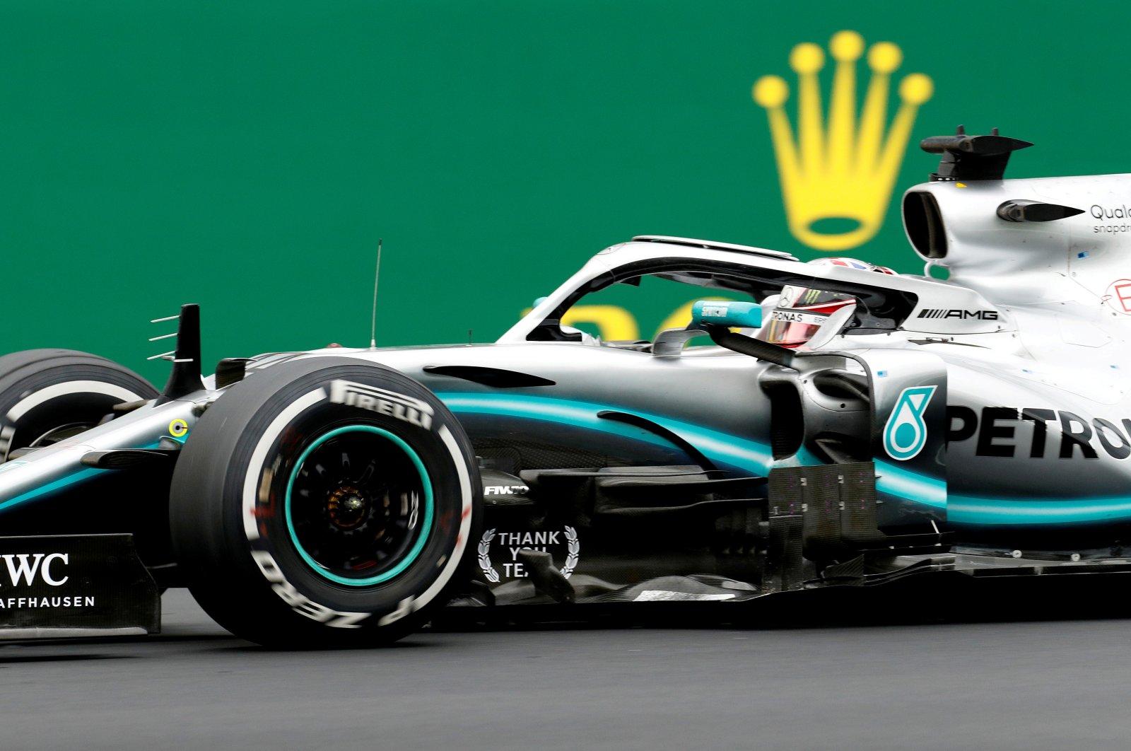 Mercedes driver Lewis Hamilton wins the F1 British Grand Prix, in Silverstone, Britain, July 14, 2019. (Reuters Photo)