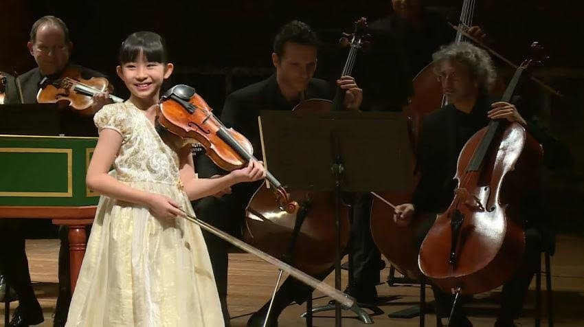 Chloe Chua at the 2018 Yehudi Menuhin International Competition for Young Violinists. (Courtesy of Singapore Embassy)