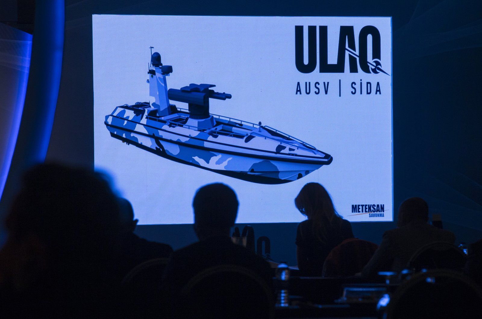 Turkey's first armored unmanned surface vehicle is introduced at a press conference in the capital Ankara, Turkey, Oct. 28, 2020. (AA Photo)