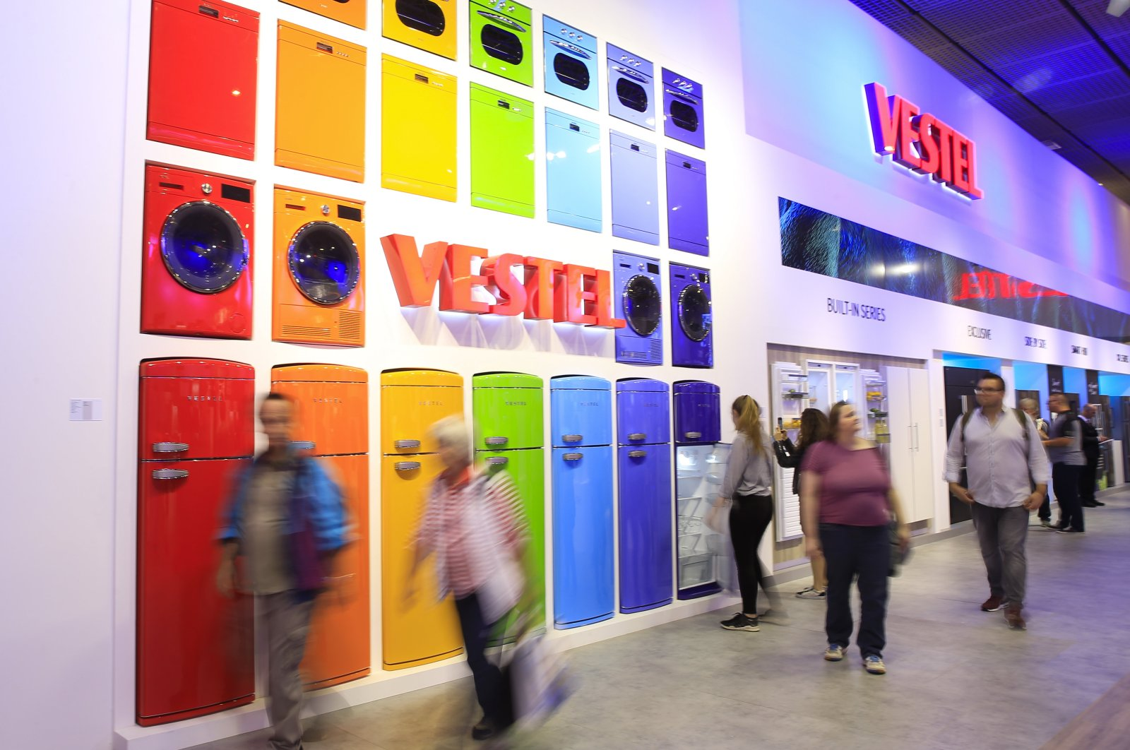 Vestel products are on display at the IFA industrial exhibition, a main global event for consumer electronics, in Berlin, Germany, Sept. 7, 2018. (AA Photo)