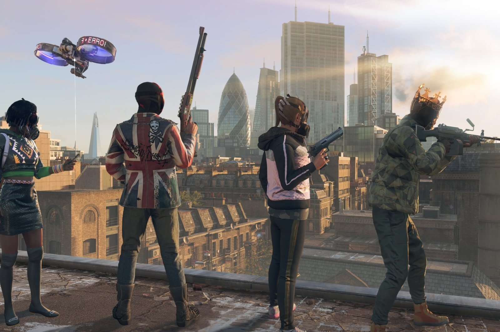 A scene from the Watch Dogs: Legion (Image credit: Ubisoft)