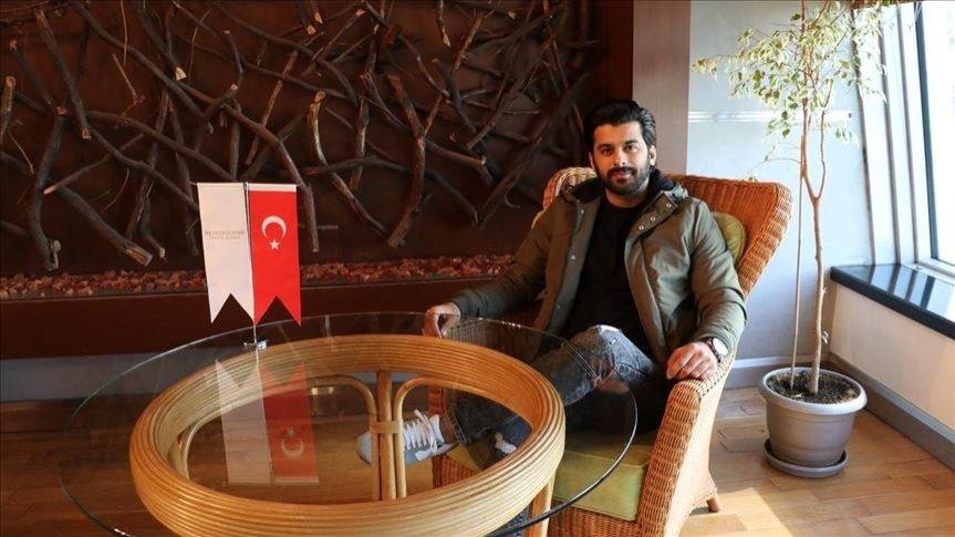 Humayoun Ashraf during his visit to the Turkish capital Ankara, Turkey, Oct. 28, 2020. (AA PHOTO)