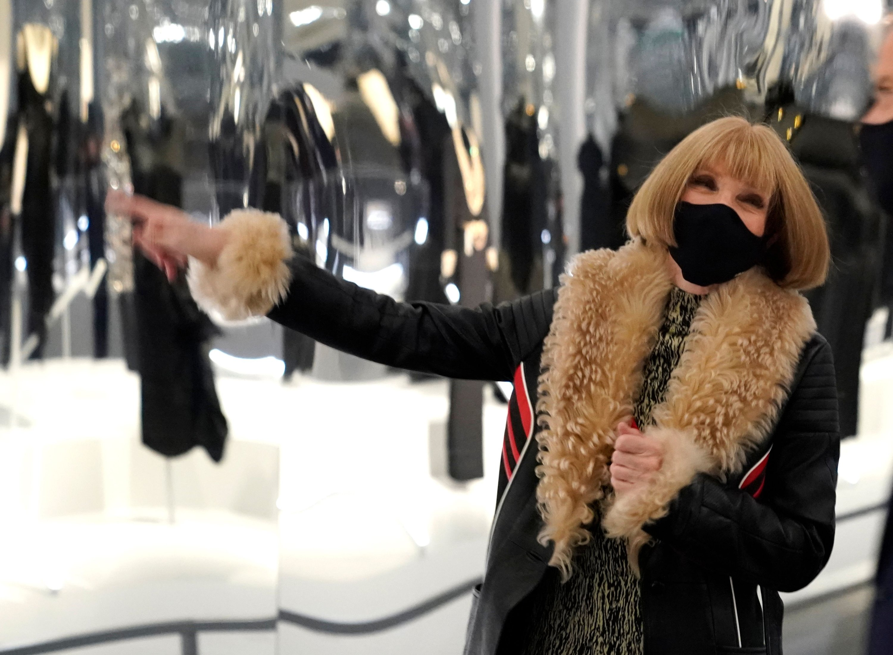 Anna Wintour, editor-in-chief of American Vogue, attends the press preview for the The Costume Institute's exhibition,