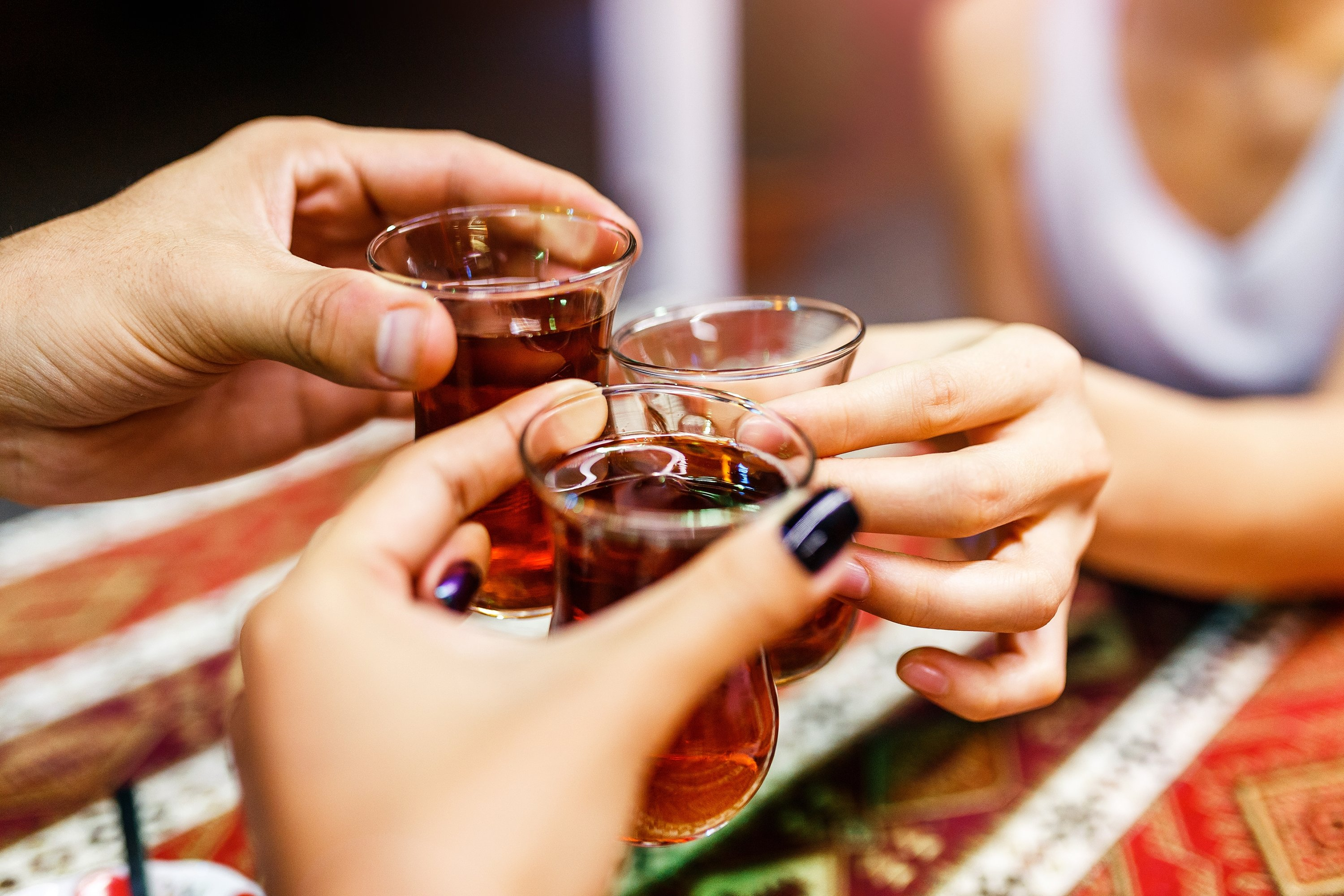 Many friendships with Turks flourish over a glass, or several, of Turkish tea. (Shutterstock Photo)