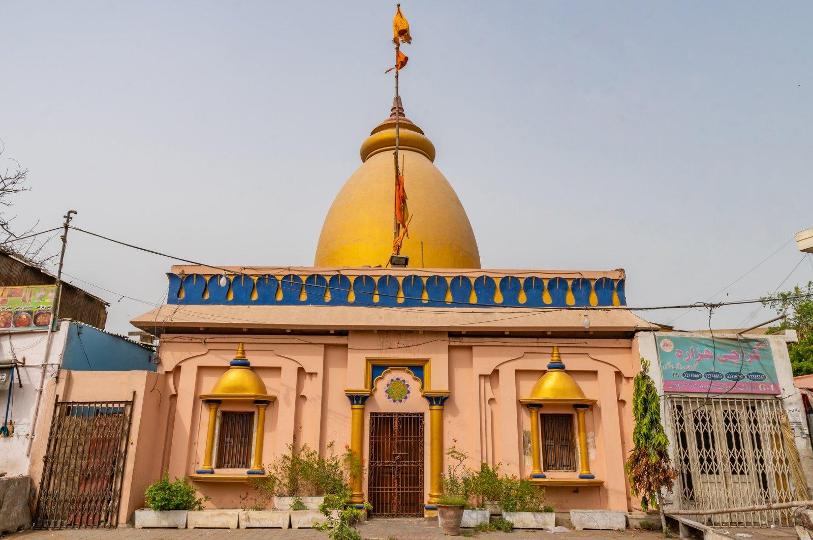 A general view of a Daryalal Mandir Hindu Temple in Karachi, Pakistan, June 2019.