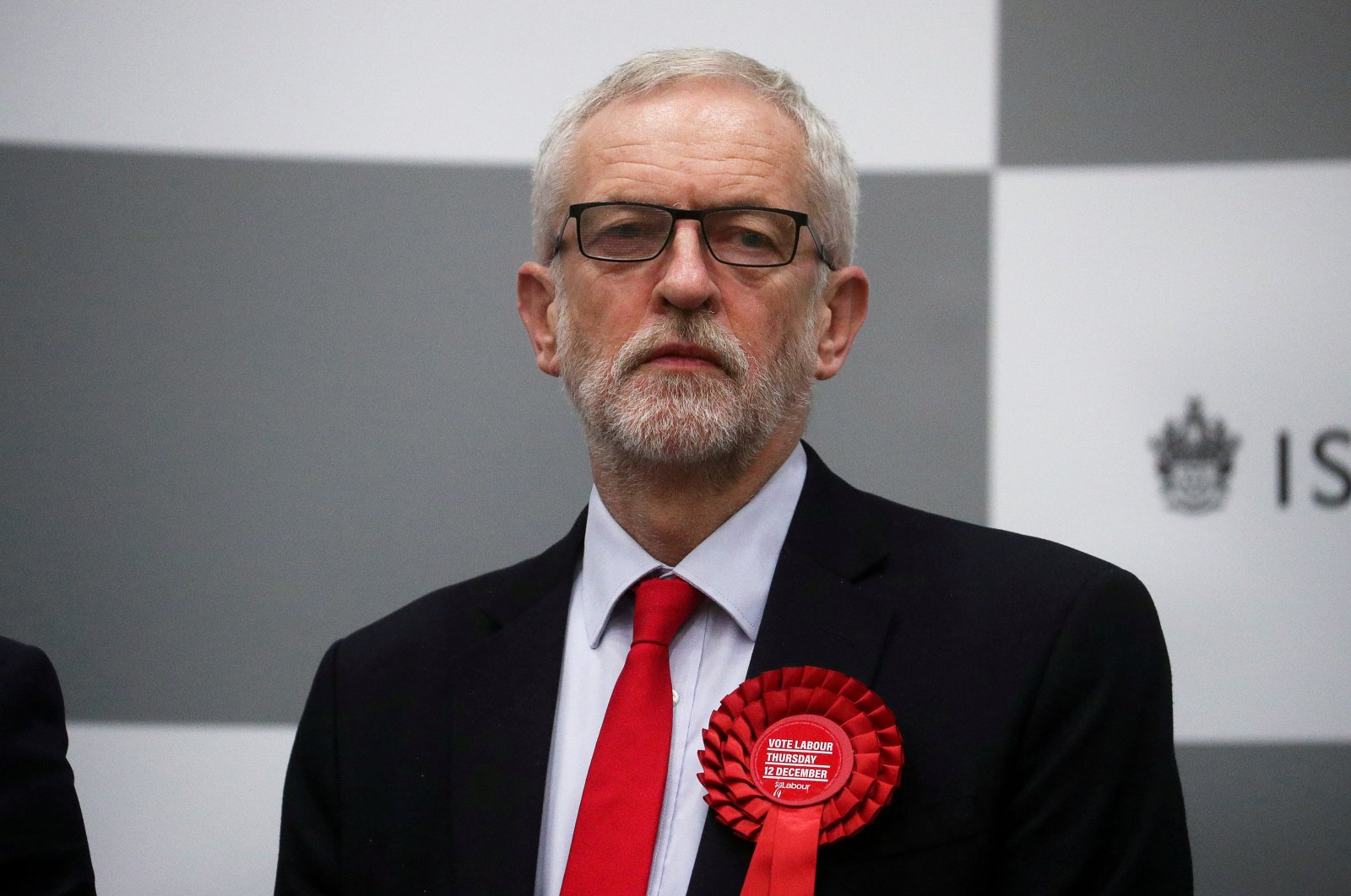Britain's opposition Labour Party leaderJeremy Corbyn waits for the General Election results of the Islington North constituency, London, Britain, Dec. 13, 2019. (REUTERS Photo)