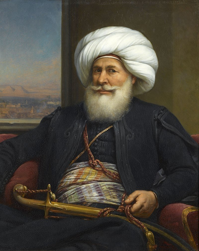 A portrait of Muhammad Ali of Egypt by French painter Auguste Couder.