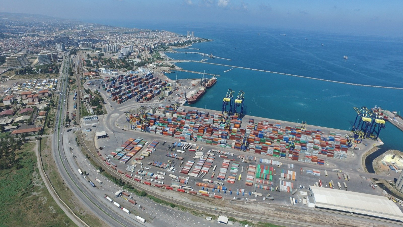 The LimakPort Iskenderun International Port in southern Hatay province, Turkey, Aug. 12, 2020. (AA Photo)