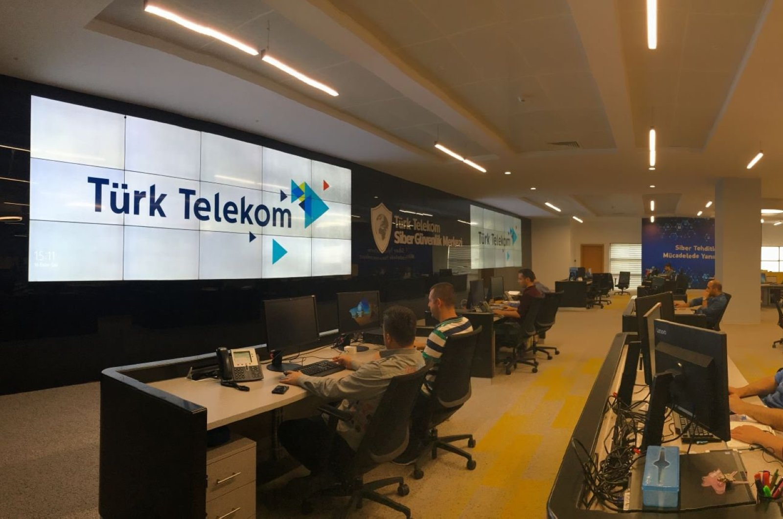 Workers in Türk Telekom's cybersecurity center, the largest in the country, in the capital Ankara, Feb. 28, 2020. (Sabah File Photo)