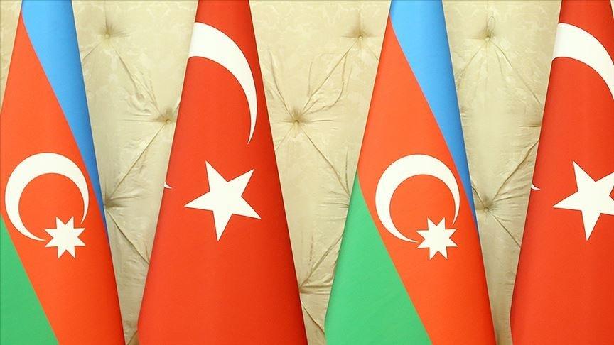 Turkish and Azerbaijani flags. (AA Photo)
