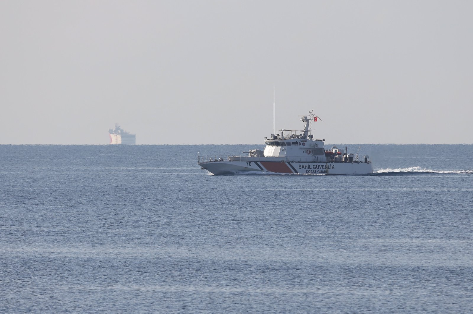 A new Navtex was announced for the Oruç Reis, extending its activities until Nov. 14, photo taken on Oct. 12, 2020. (AA Photo)