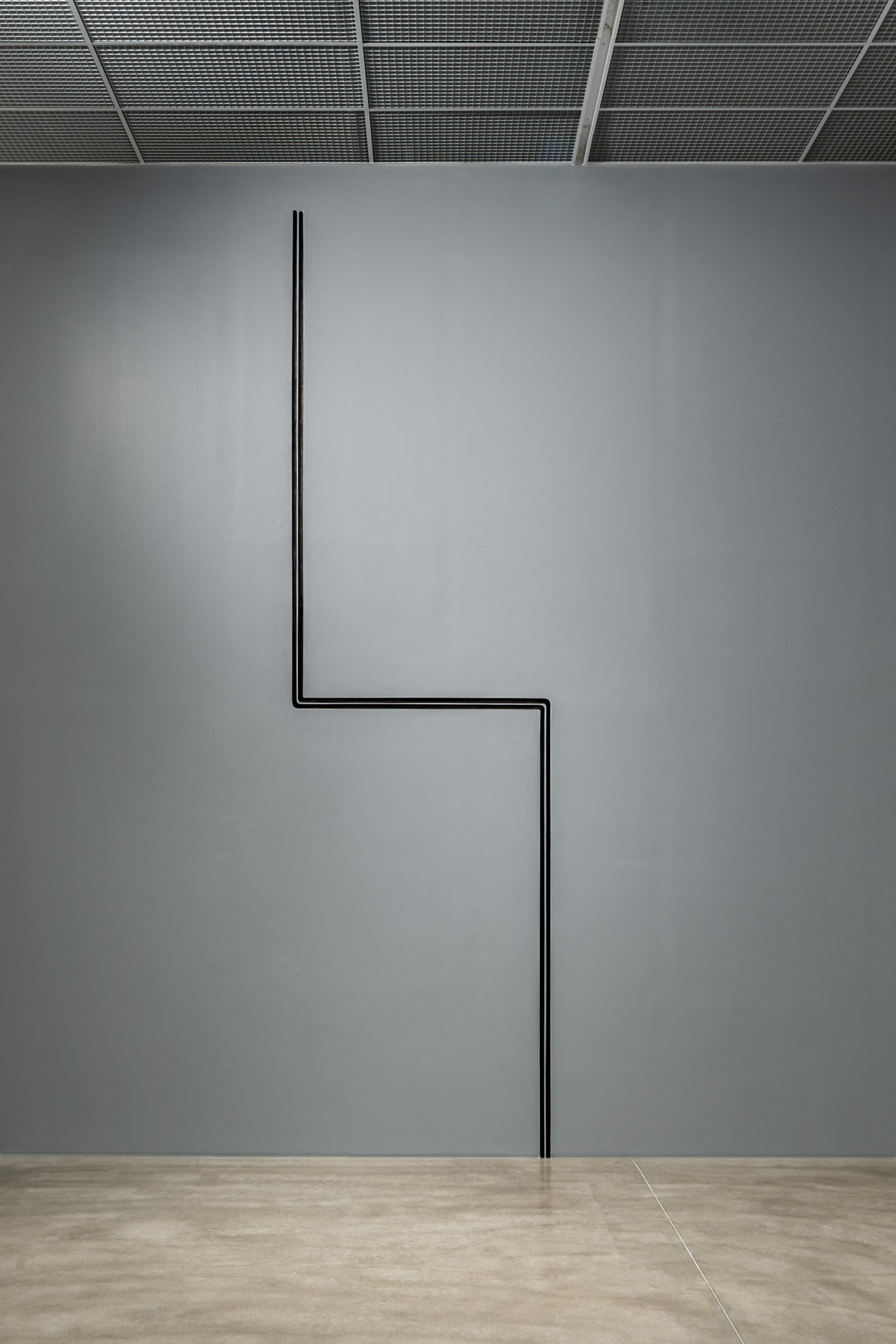 'Line' is one of the pieces maintaining a symmetrical geometry at 'Meydan.'  (Courtesy of YKY)
