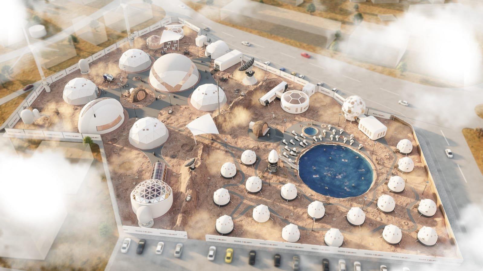 A virtual plan of the Mars Colony. (AA PHOTO)