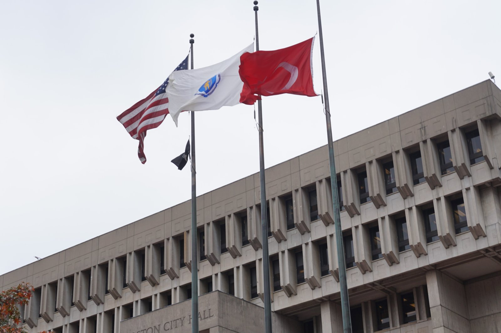 The festival started with the hoisting of the Turkish flag in the Boston City Hall Square, U.S., Oct. 30, 2020. (AA PHOTO)
