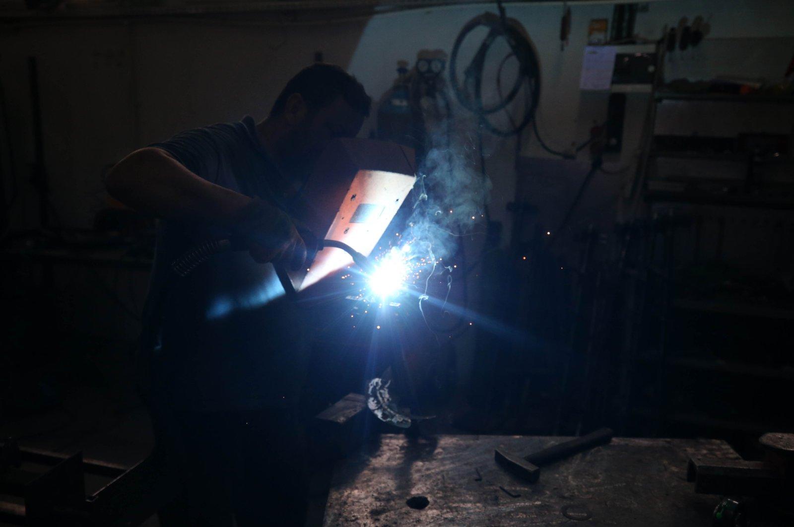 A man works at an atelier in Düzce province, northwestern Turkey, July 16, 2020. (AA Photo)