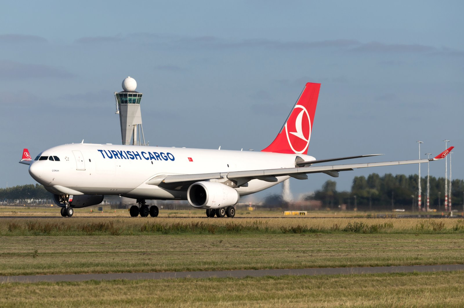A Turkish Cargo plane lands at Amsterdam Schiphol Airport, the Netherlands, June 27, 2019. (Shutterstock Photo)