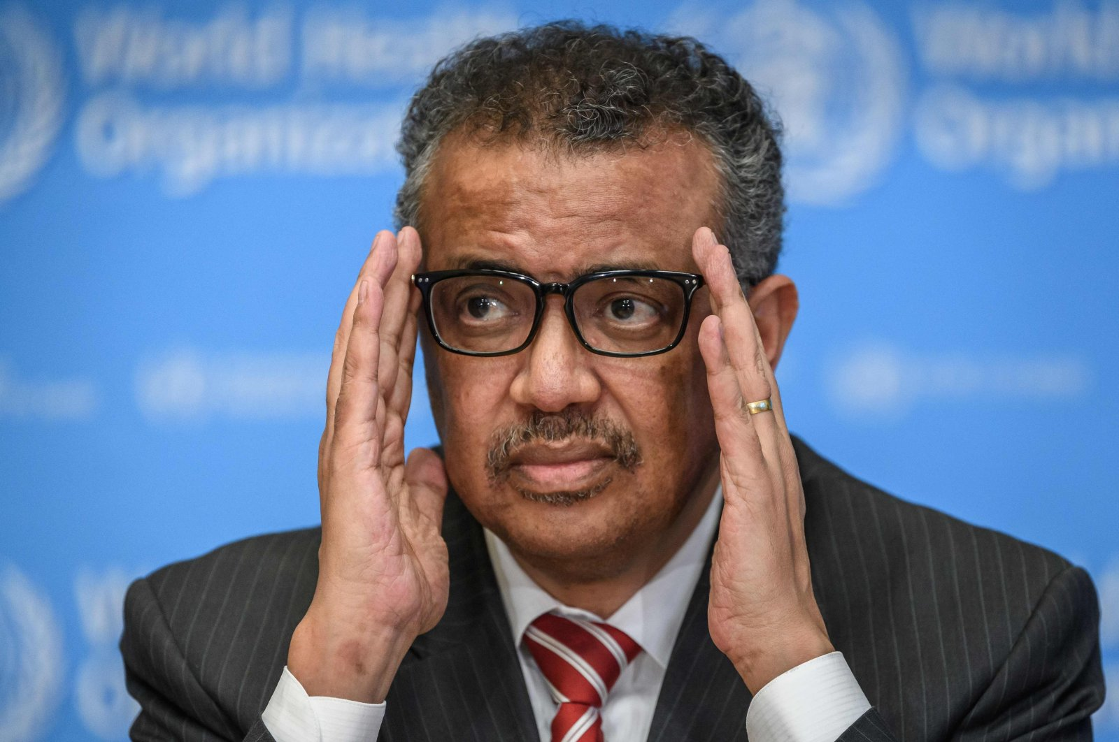 World Health Organization (WHO) Director-General Tedros Adhanom Ghebreyesus attends a daily press briefing on COVID-19 at the WHO headquarters in Geneva, March 11, 2020. (AFP Photo)