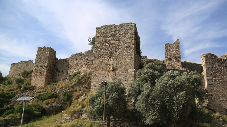 The Beçin Castle, Muğla, southwestern Turkey, May 16, 2019. (AA PHOTO)