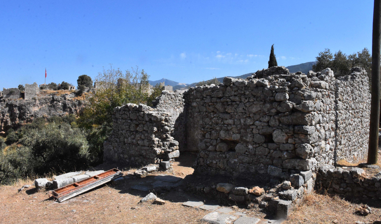 The Bey Bath in ancient city of Beçin, Muğla, southwestern Turkey, Nov. 2, 2020. (AA PHOTO)