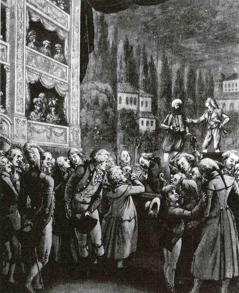 Wolfgang Amadeus Mozart (C) attended a performance of his own opera Die Entführung aus dem Serail in Berlin in 1789.