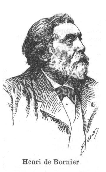 A sketch of Henri de Bornier.