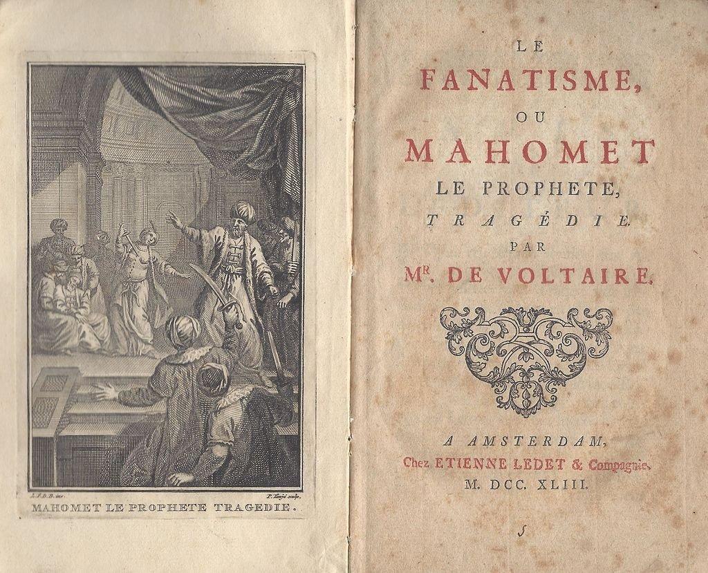 A 1743 copy of Voltaire's 'Le fanatisme, ou Mahomet le Prophete'.