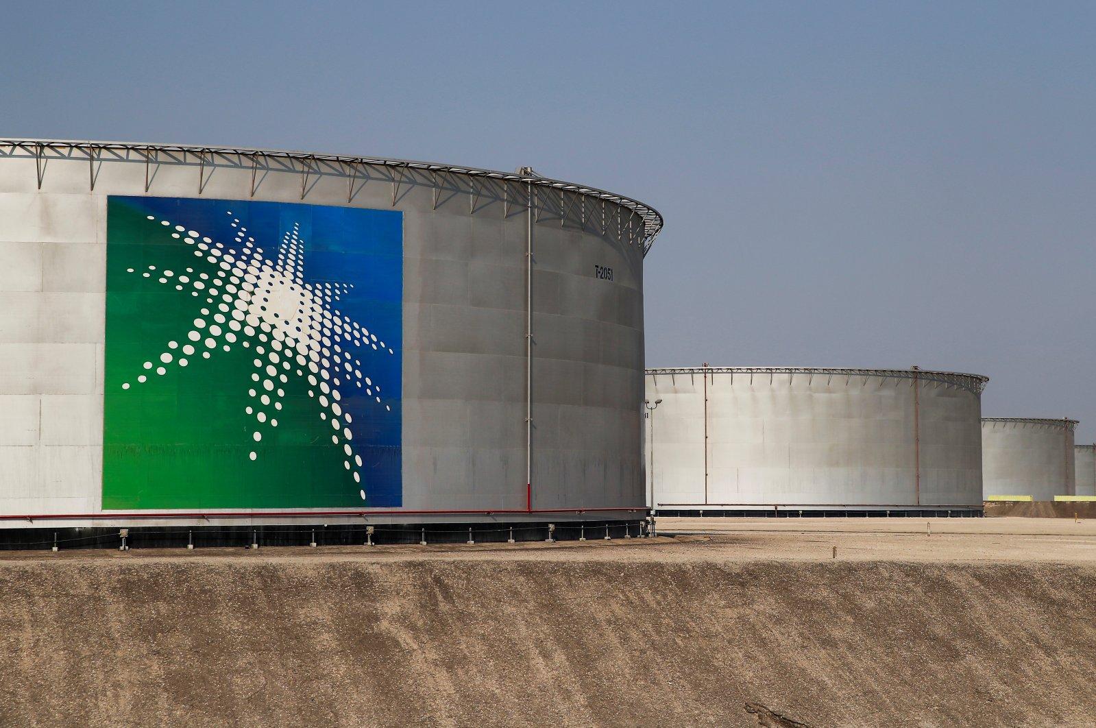 A view shows branded oil tanks at the Saudi Aramco oil facility in Abqaiq, Saudi Arabia, Oct. 12, 2019. (Reuters Photo)