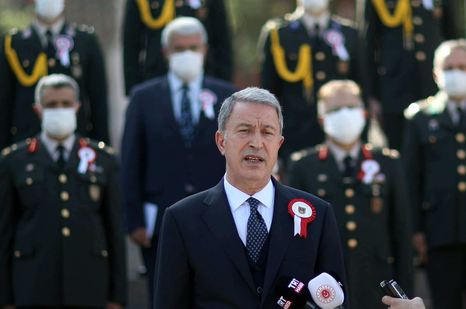 Defense Minister Hulusi Akar attends the inauguration ceremony of the National Defense University in Istanbul, Sept. 14, 2020. (AA File Photo)