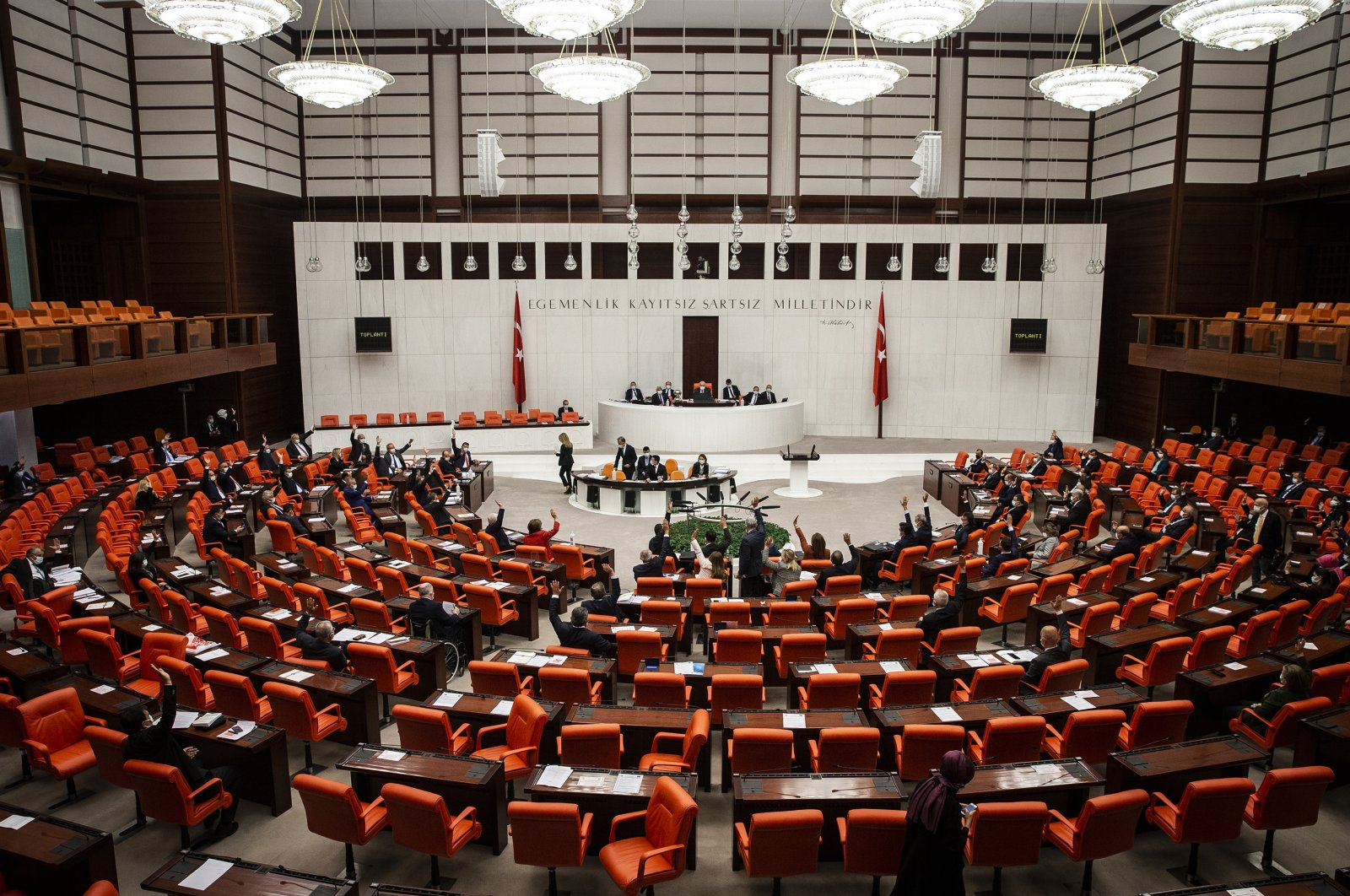 The Turkish Parliament has adopted a resolution to establish a parliamentary investigation commission for measures to be taken against earthquakes, Nov. 3, 2020. (AA Photo)