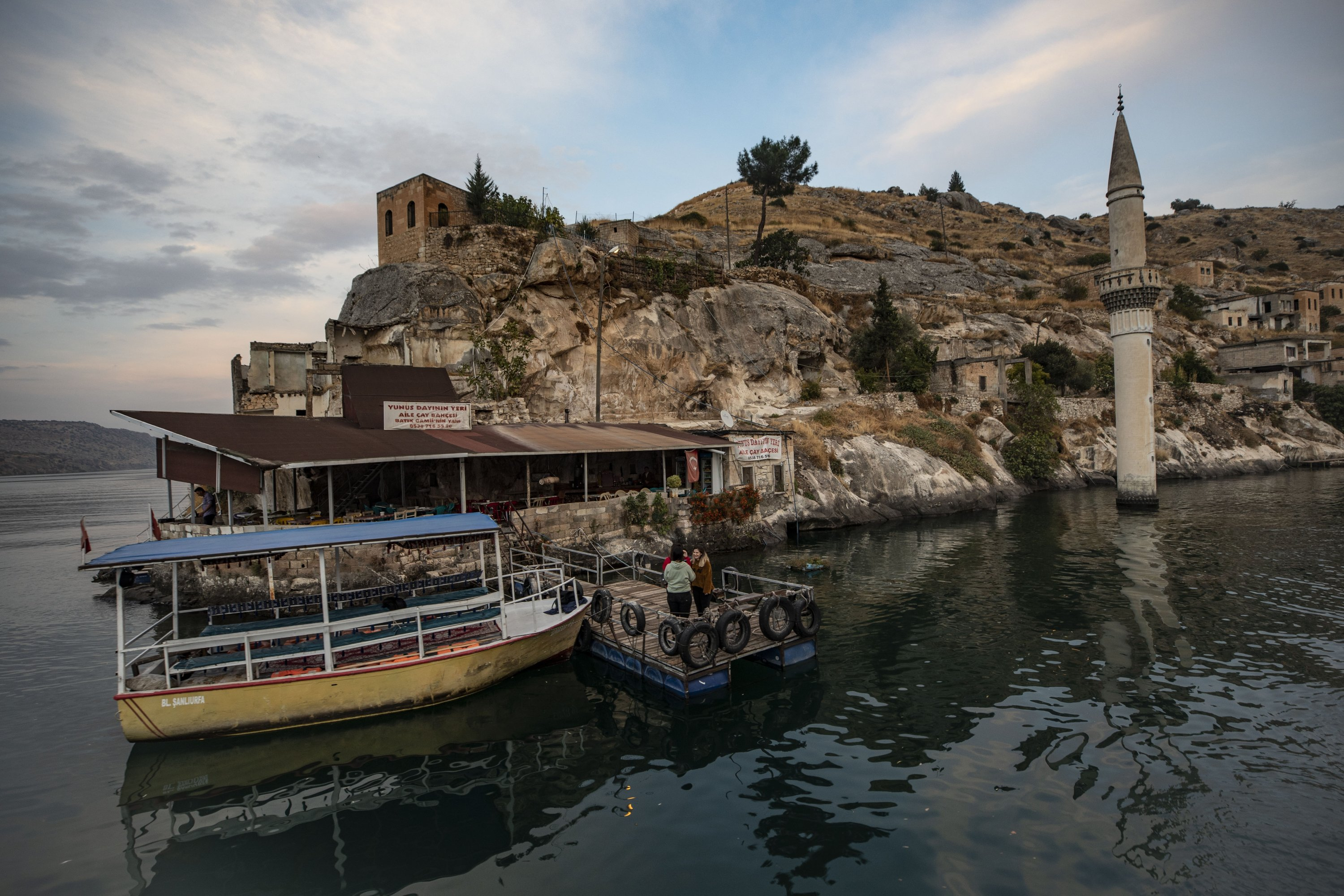 """The historic town of Halfeti lies on the eastern bank of the Euphrates River and is aptly called the """"sunken city"""" in Turkish because it is partially submerged underwater. (AA Photo)"""