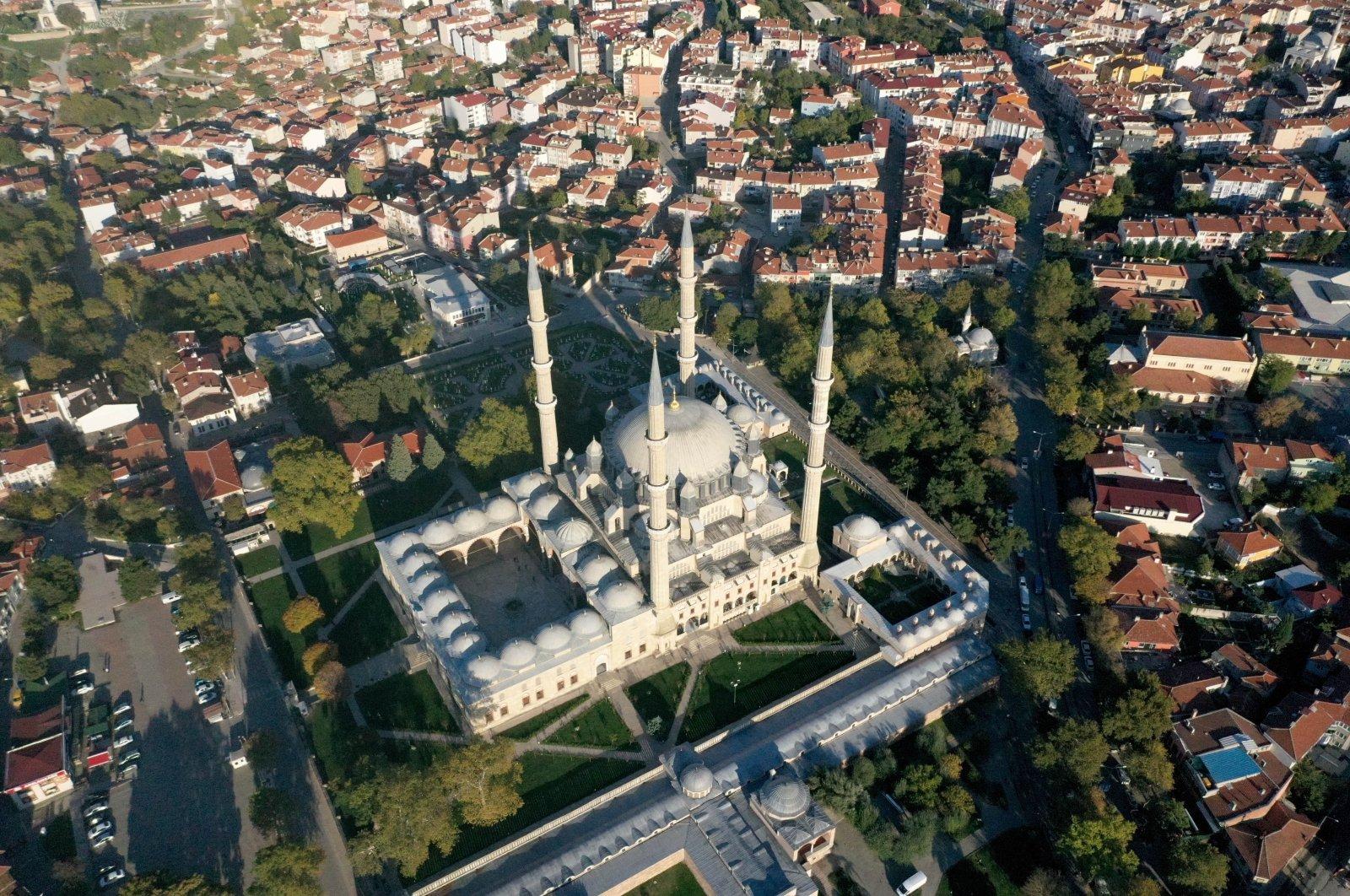 Selimiye Mosque dominates the skyline of Edirne province, northwestern Turkey, Nov. 1, 2020. (AA PHOTO)