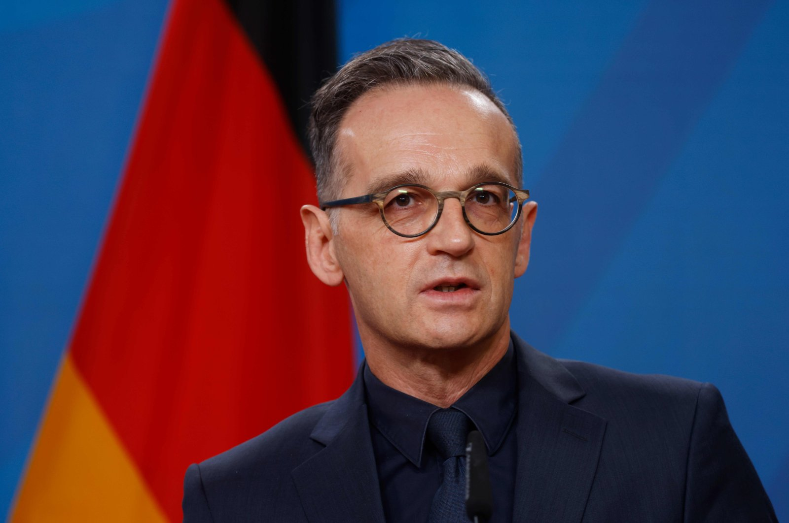 German Foreign Minister Heiko Maas speaks during a news conference with his counterpart from the Republic of Kosovo at the Federal Foreign Office, in Berlin, Germany, Nov. 3, 2020. (AFP Photo)