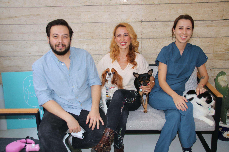 Senem Selimi (C) created PatiTracker to help people find their lost pets. (Courtesy of Senem Selimi)