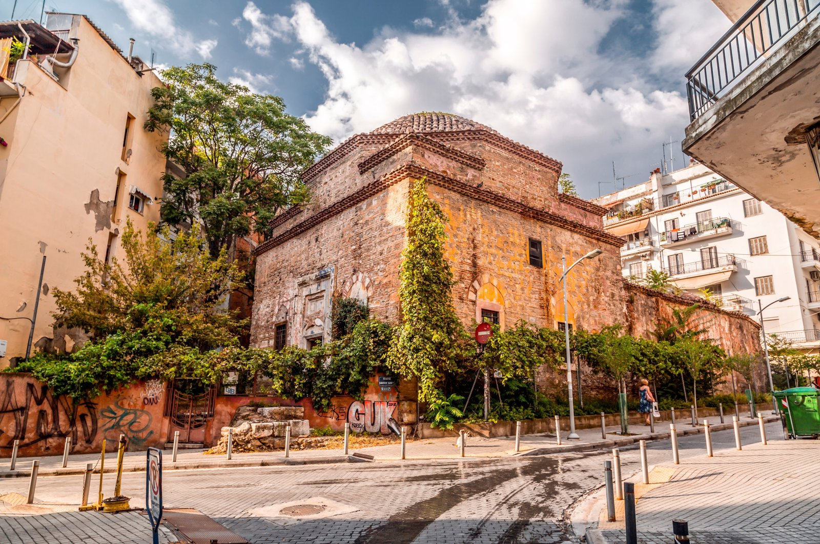 "A general view of the 15th Ottoman Bey Hamam, also known as ""Baths of Paradise,"" located along Egnatia Street in Thessaloniki, Greece, July 24, 2018. (Shutterstock Photo)"