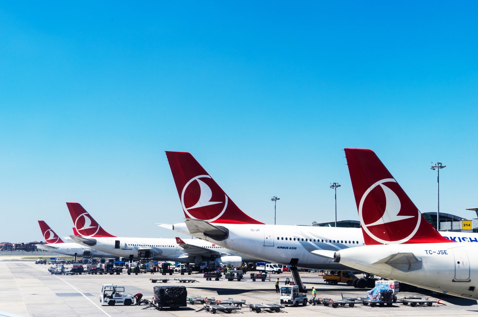 Turkish Airlines aircraft parked in the now-closed Atatürk Airport, Istanbul, Turkey, May 1, 2016. (Shutterstock Photo)