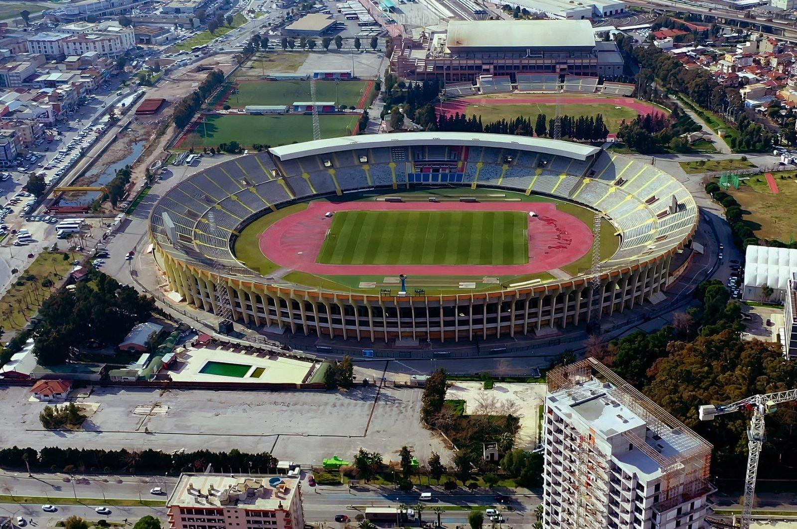 This undated file photo shows a general view of Atatürk Stadium, in Izmır, Turkey.