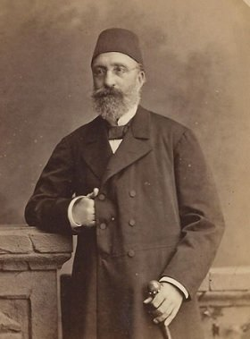 Midhat Pasha is described as a person with a liberal attitude and is often considered one of the founders of the Ottoman Parliament