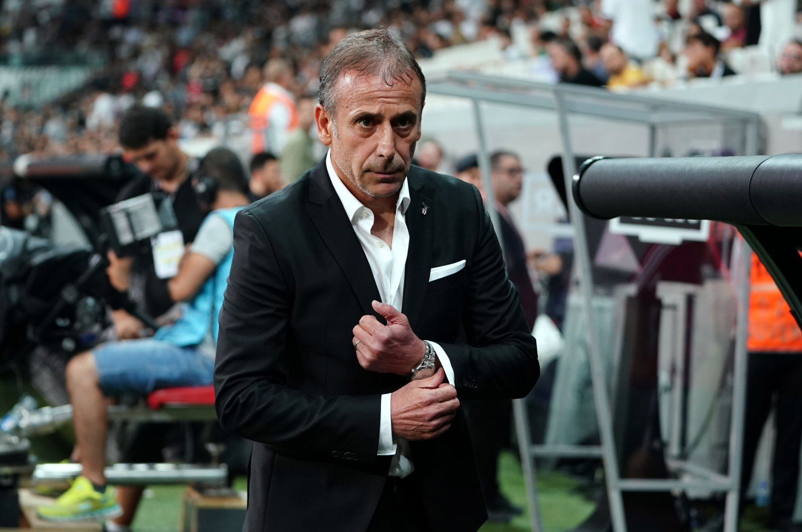 This file photo provided on July 11, 2019 shows coach Abdullah Avcı during a match. (IHA Photo)
