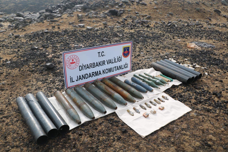 Turkish security forces seize ammunition belonging to the PKK terrorists in Diyarbakır province, southeastern Turkey, Nov. 8, 2020. (DHA)
