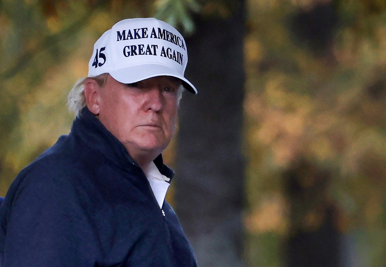 U.S President Donald Trump returns to the White House, Washington, D.C., U.S., Nov. 7, 2020. (REUTERS Photo)
