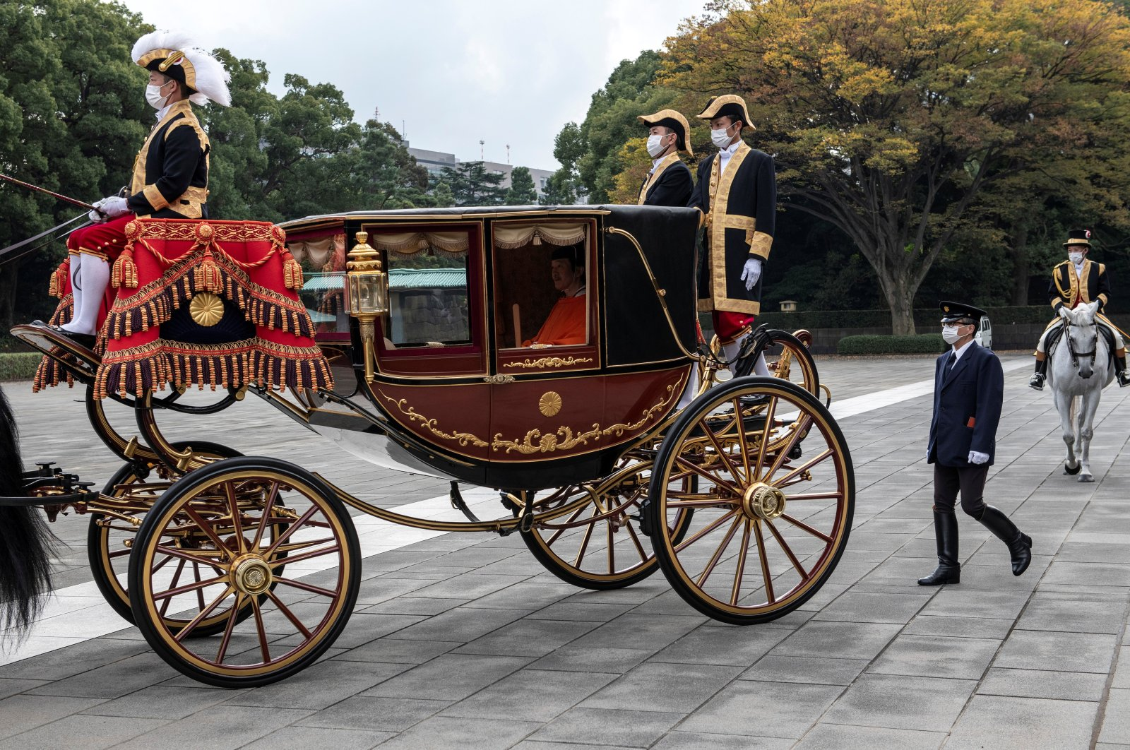 Crown Prince Fumihito leaves the Imperial Palace, Tokyo, Nov. 8, 2020. (REUTERS Photo)