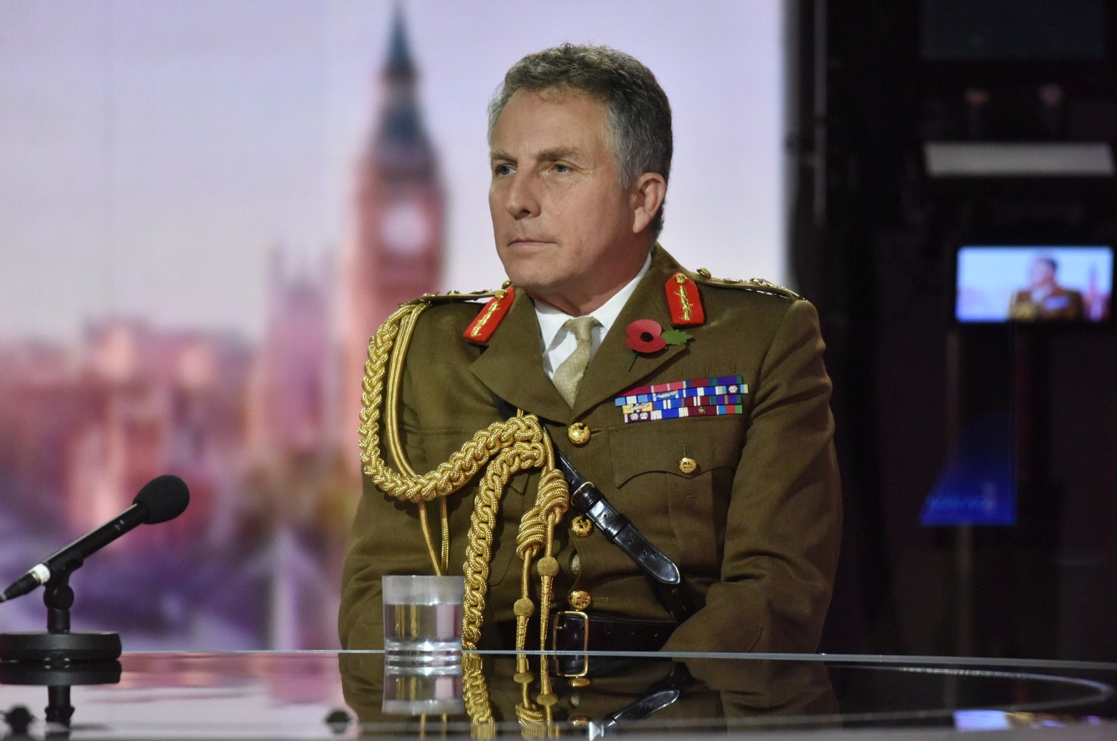 Britain's Chief of the Defence Staff, General Nick Carter, appears on BBC TV's The Andrew Marr Show, London, Nov. 8, 2020. (iREUTERS Photo)