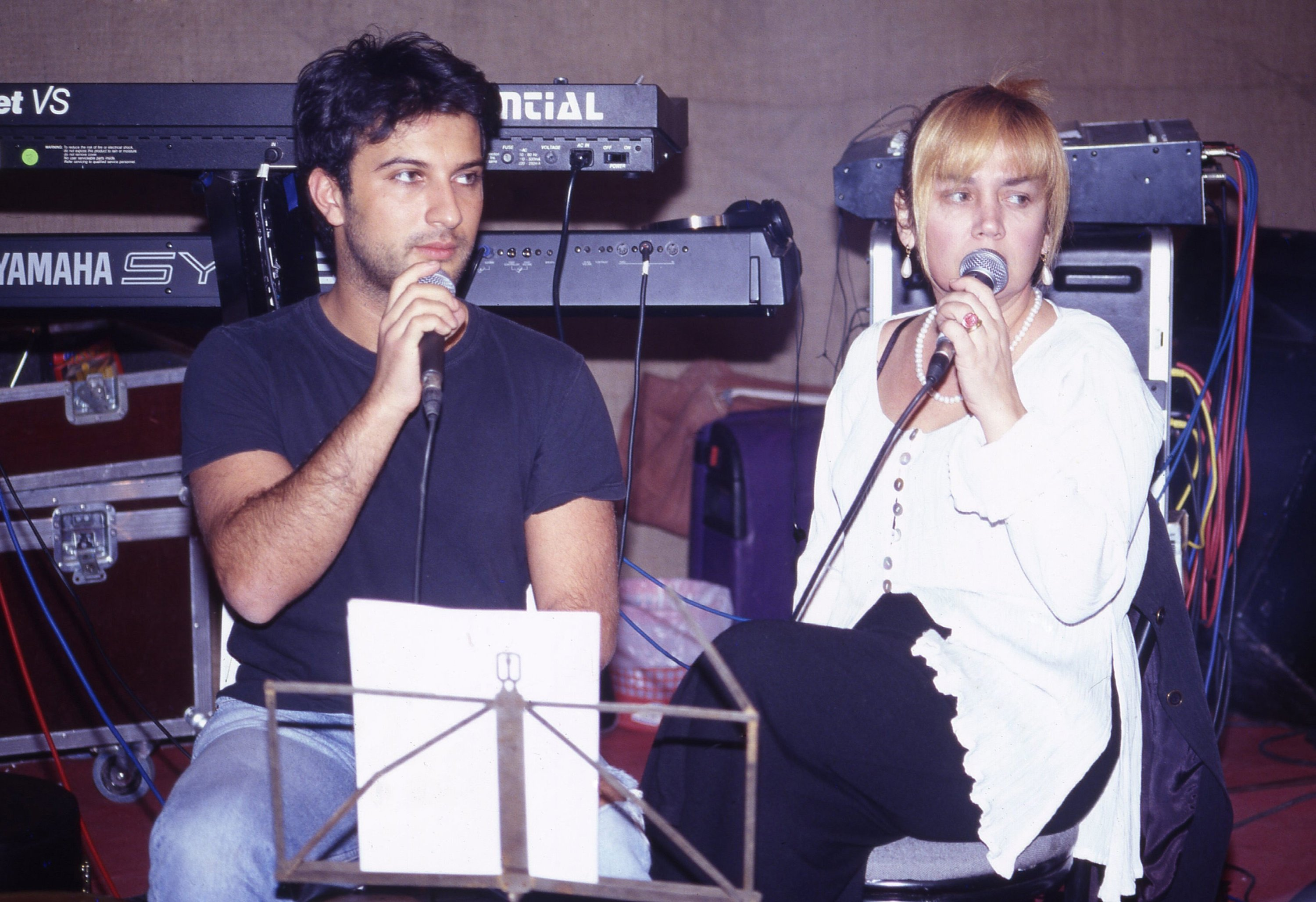 Tarkan (L) and Sezen Aksu have collaborated on songs many times. (File Photo)