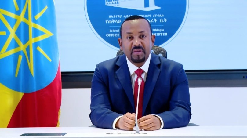 Ethiopia's Prime Minister Abiy Ahmed makes a statement on his official Facebook page, Addis Ababa, Nov. 8, 2020. (Reuters Photo)