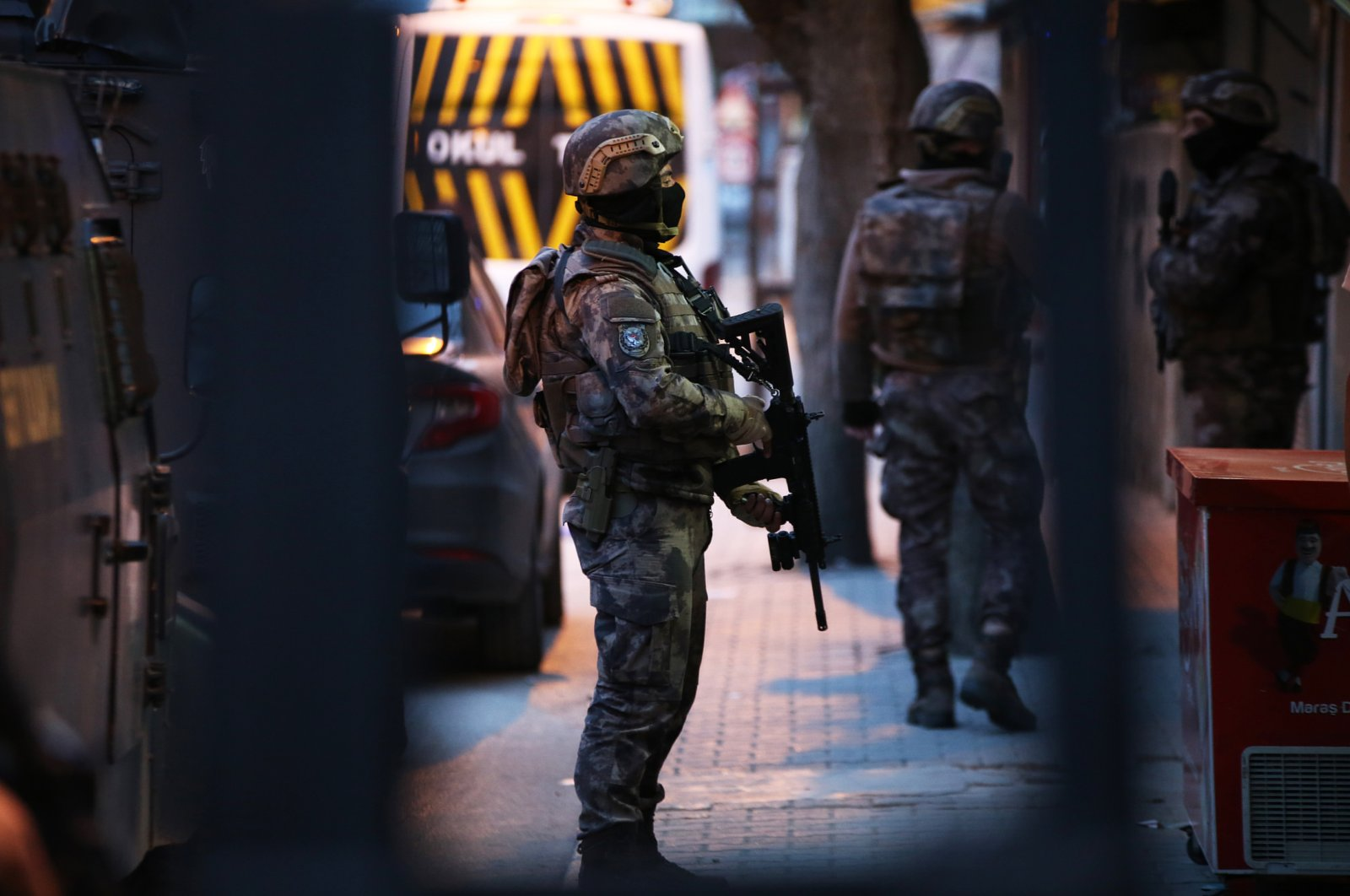 Counterterrorism police squads raid an address in Adana province, southern Turkey, on March 17, 2020. (AA File Photo)